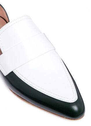 Detail View - Click To Enlarge - Marni - 'Sabot' colourblock ankle strap leather loafers