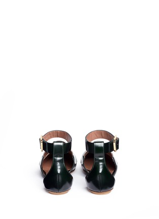 Back View - Click To Enlarge - Marni - 'Sabot' colourblock ankle strap leather loafers