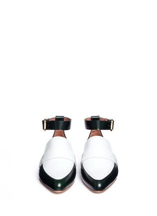 Front View - Click To Enlarge - Marni - 'Sabot' colourblock ankle strap leather loafers