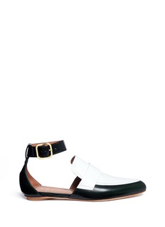 Marni 'Sabot' colourblock ankle strap leather loafers