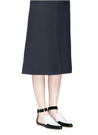 Figure View - Click To Enlarge - Marni - 'Sabot' colourblock ankle strap leather loafers