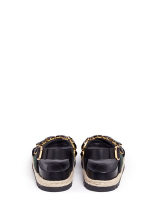 Back View - Click To Enlarge - Marni - 'Fussbett' jewelled neoprene espadrille slide sandals