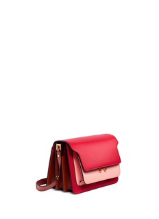 Marni 'Trunk' medium colourblock leather shoulder bag