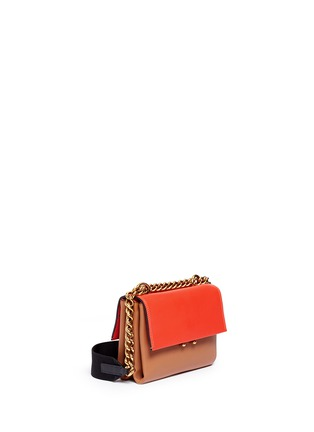 Marni - 'Bandoleer' small colourblock leather chain shoulder bag