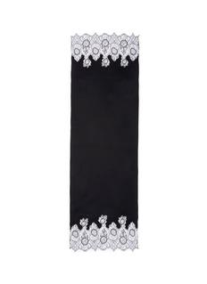 ValentinoFloral lace trim plissé pleat modal blend scarf