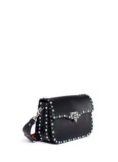 Valentino'Guitar Rockstud Rolling' cabochon stud leather shoulder bag