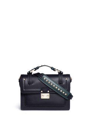 Main View - Click To Enlarge - Valentino - 'Cabana' small leather top handle satchel
