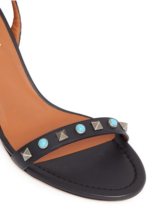 Detail View - Click To Enlarge - Valentino - 'Rockstud Rolling' native ankle tie sandals