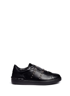 Valentino 'Rockstud Untitled 11 Noir' leather sneakers