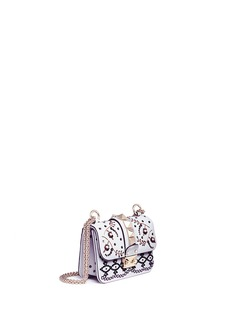 Valentino 'Rockstud Lock' mini beaded leather chain bag