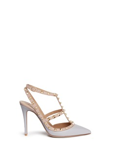 Valentino 'Rockstud' caged strap leather pumps