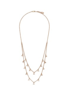 Valentino 'Rockstud' glass crystal tiered necklace