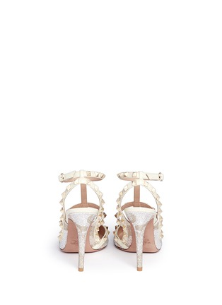 Back View - Click To Enlarge - Valentino - 'Rockstud' caged leather Swarovski crystal pumps