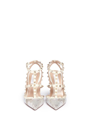 Figure View - Click To Enlarge - Valentino - 'Rockstud' caged leather Swarovski crystal pumps