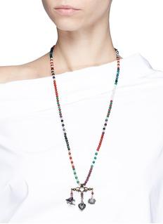 Valentino'Santeria' pendant beaded chain necklace