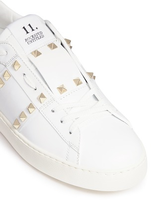 Detail View - Click To Enlarge - Valentino - 'Rockstud Untitled 11' leather sneakers