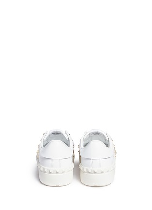 Back View - Click To Enlarge - Valentino - 'Rockstud Untitled 11' leather sneakers