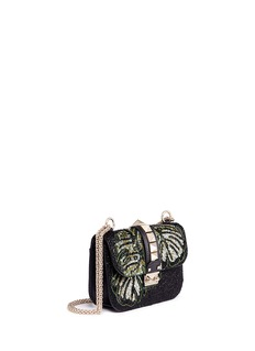 Valentino 'Rockstud Lock' small leaf embellished shoulder bag