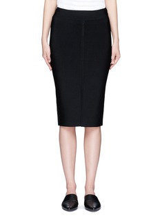 T By Alexander Wang Slit front rib knit pencil skirt