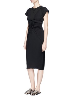 T By Alexander Wang Ruched tie front georgette cami dress