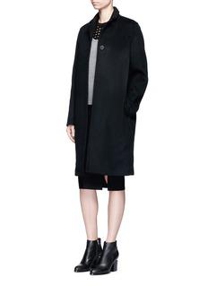 T By Alexander WangFelted wool long car coat