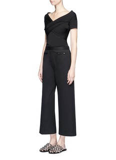 T By Alexander Wang Cotton twill culottes
