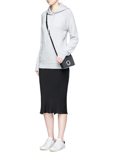T By Alexander Wang Godet back crepe skirt