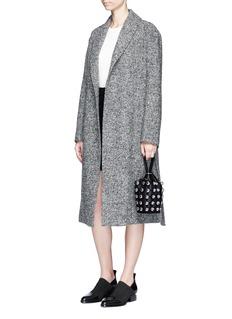 T By Alexander WangBelted wool blend bouclé coat