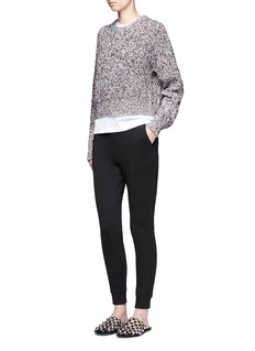 T By Alexander Wang Marled cotton sweater