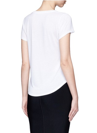 Back View - Click To Enlarge - T By Alexander Wang - Scoop neck T-shirt