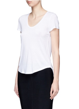 Front View - Click To Enlarge - T By Alexander Wang - Scoop neck T-shirt