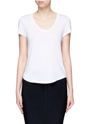 Main View - Click To Enlarge - T By Alexander Wang - Scoop neck T-shirt