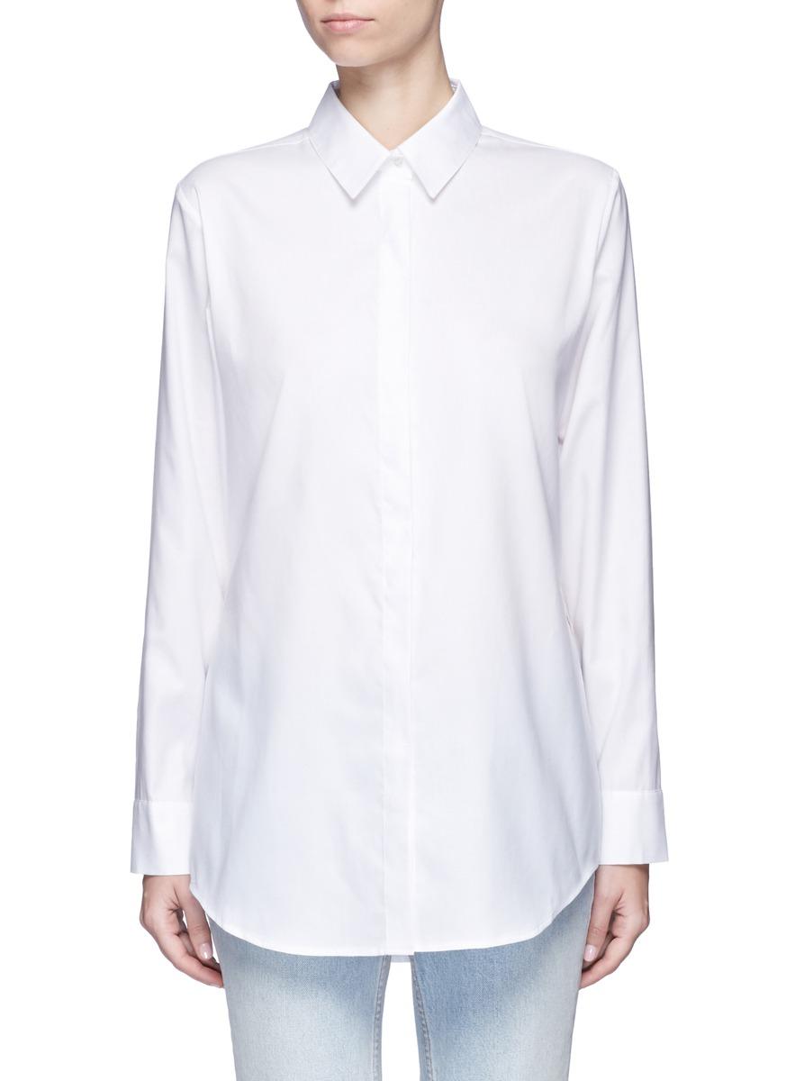 Slit yoke cotton poplin shirt by T By Alexander Wang