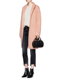 T By Alexander Wang Felted wool long car coat