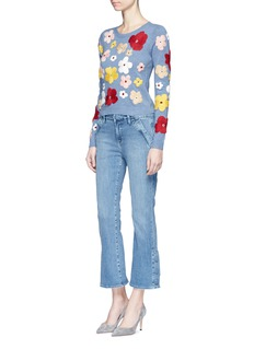 alice + olivia'Lucca' floral embroidered sweater