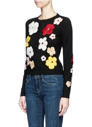 Front View - Click To Enlarge - alice + olivia - 'Lyndia' floral embroidered cardigan