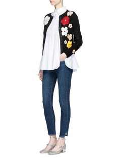 alice + olivia 'Lyndia' floral embroidered cardigan