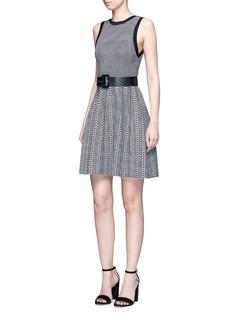 alice + olivia'Kamilah' houndstooth knit sleeveless dress