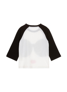 alice + olivia 'Stace Face' print cotton kids T-shirt