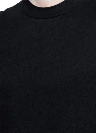 Detail View - Click To Enlarge - T By Alexander Wang - High crew neck cotton jersey T-shirt
