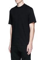 High crew neck cotton jersey T-shirt