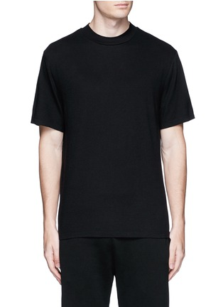 Main View - Click To Enlarge - T By Alexander Wang - High crew neck cotton jersey T-shirt