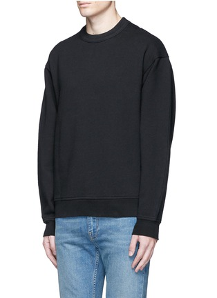 Front View - Click To Enlarge - T By Alexander Wang - Vintage fleece cotton blend sweatshirt