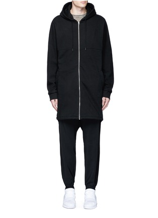 Main View - Click To Enlarge - T By Alexander Wang - Dip hem hooded jersey parka