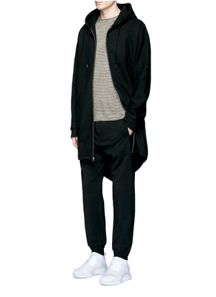 Figure View - Click To Enlarge - T By Alexander Wang - Dip hem hooded jersey parka