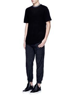 T By Alexander WangZip cuff tech fabric pants