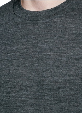 Detail View - Click To Enlarge - T By Alexander Wang - Patch wool mélange T-shirt