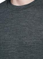 Patch wool mélange T-shirt