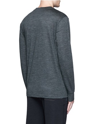 Back View - Click To Enlarge - T By Alexander Wang - Patch wool mélange T-shirt
