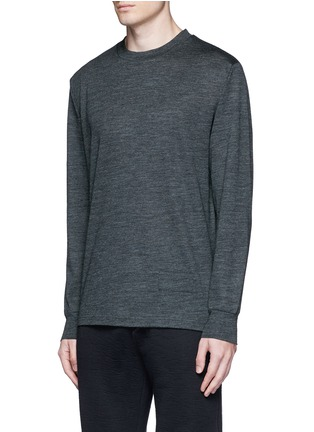Front View - Click To Enlarge - T By Alexander Wang - Patch wool mélange T-shirt